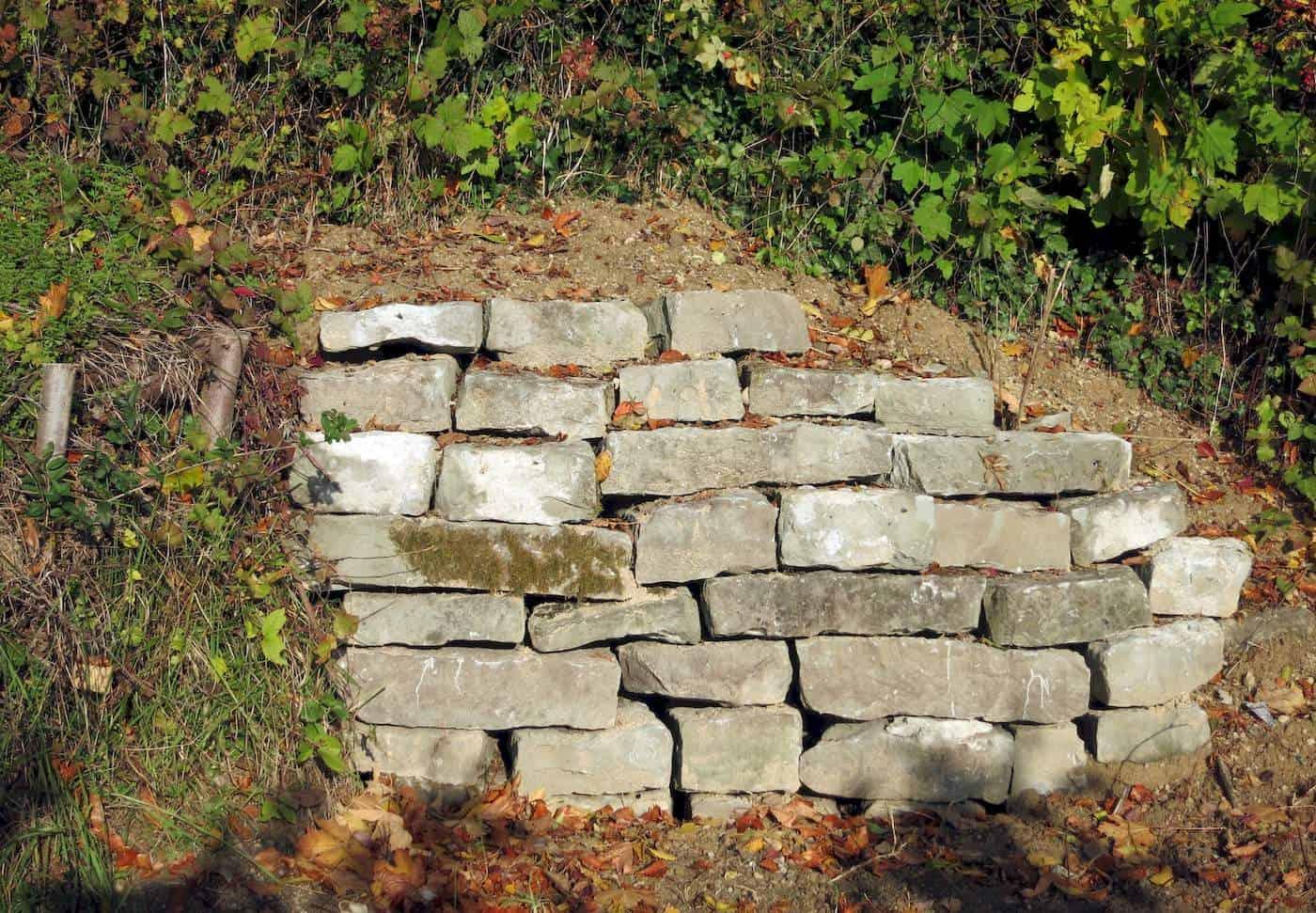 Fertige Trockenmauer