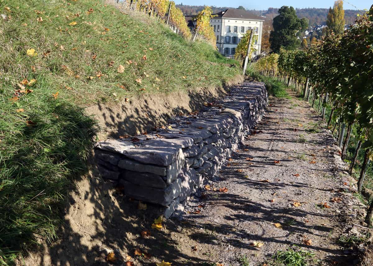 Fertige Mauer
